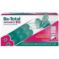 Be-Total Advance B12 - Integratore alimentare per stanchezza fisica e mentale - 15 flaconcini