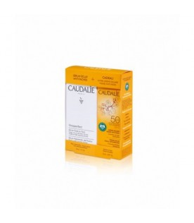 Caudalie Cofanetto Vinoperfect Siero Antimacchie da 30 ml + Crema Solare Viso Antirughe SPF50+ 25 ml