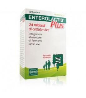 ENTEROLACTIS Plus - Integratore a base di fermenti lattici vivi - 10 bustine