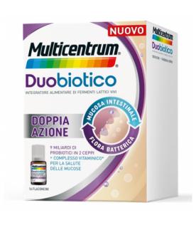 Multicentrum Duobiotico - Integratore per il benessere dell'intestino - 16 flaconcini