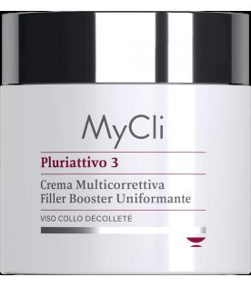 MyCli Pluriattivo 3 - Crema Multicorrettiva Filler Booster Uniformante per viso, collo e décolleté - 100 ml