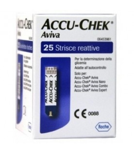 Accu-chek Aviva 25 Strisce per Glicemia