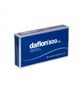 Daflon - Trattamento di emorroidi e fragilità capillare - 30 compresse rivestite - 500 mg