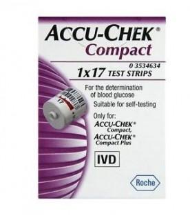 Accu-chek Compact 17 Strisce per Glicemia