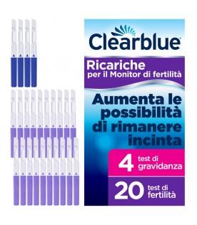 CLEARBLUE Test di Ovulazione Stick Fertilità 20 Test di Fertilità + 4 Test di Gravidanza