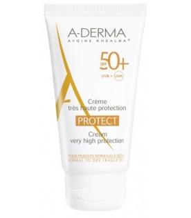 Aderma Protect Crema Pelle Normale e Secca SPF 50+ Protezione Solare Molto Alta 40ml