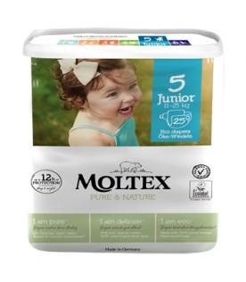 MOLTEX Pure&Nature 5 (11-25 Kg) Junior 25pz