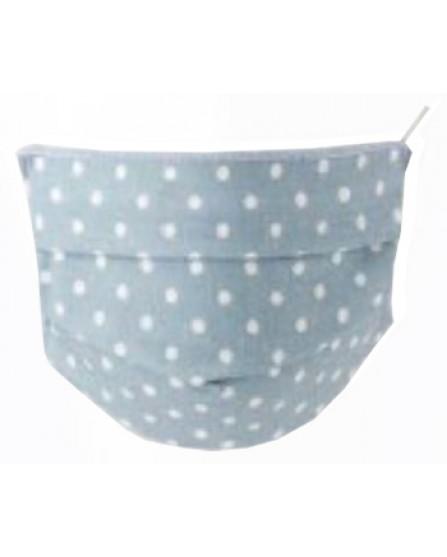 Mascherina Igienica Baby in TNT Lavabile 2 pezzi Colore Pois Azzurro