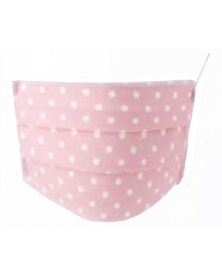Mascherina Igienica Baby in TNT Lavabile 2 pezzi Colore Pois Rosa