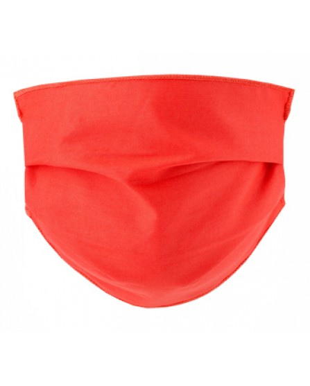 Mascherina Lavabile Adulti in TNT - 2 mascherine in cotone ipoallergenico - Colore Corallo