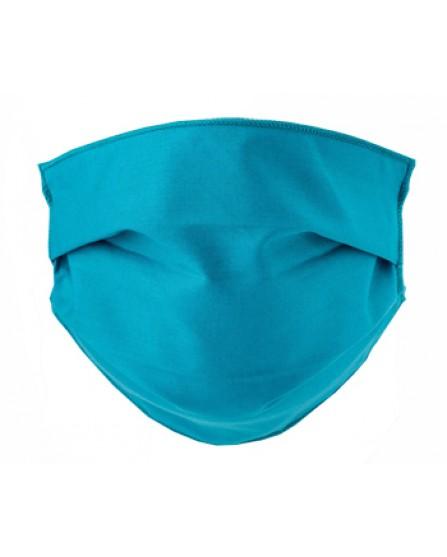 Mascherina Lavabile Adulti in TNT - 2 mascherine in cotone ipoallergenico - Colore Ottanio
