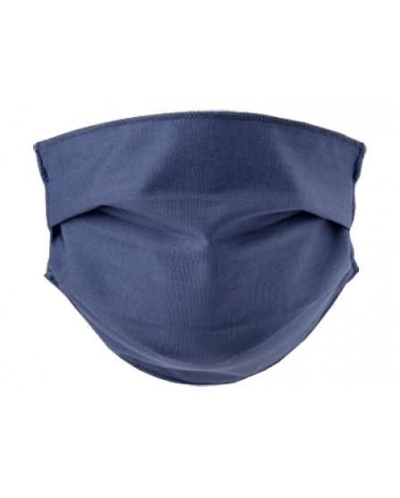 Mascherina Lavabile Adulti in TNT - 2 mascherine in cotone ipoallergenico - Colore Denim