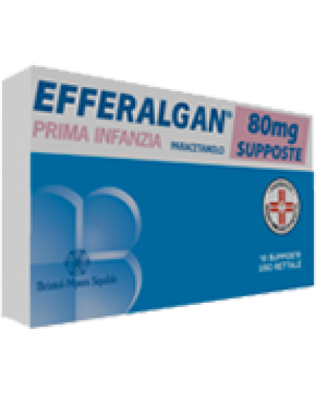 Efferalgan 10 supposte 80 mg
