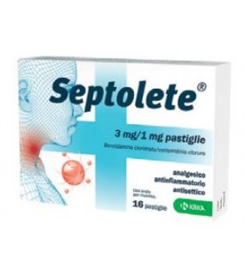SEPTOLETE 3mg/1mg 16 Past.