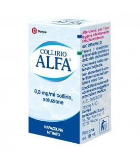 Collirio Alfa Gocce Oculari 10 ml 0,8mg/ml