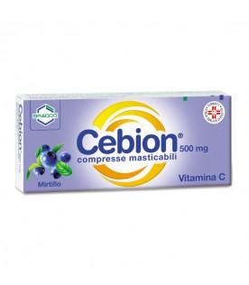 Cebion 500mg 20 compresse Masticabili Mirtillo