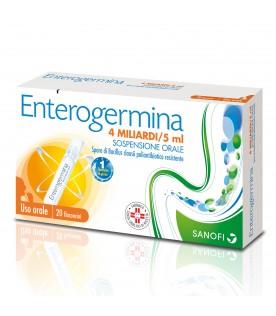 Enterogermina 4 Miliardi - Equilibrio della flora batterica intestinale - 20 flaconcini