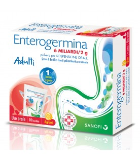 Enterogermina 6 Miliardi - Equilibrio della flora batterica intestinale - 10 bustine
