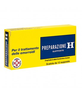 Preparazione H 12supposte 23 mg