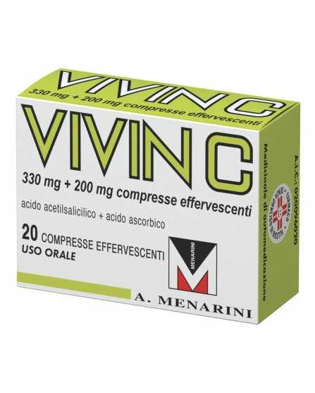 Vivin C 20 Compresse Effervescenti 330mg+200mg