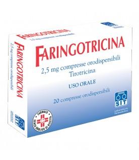 Faringotricina 20 compresse Oro 2,5mg