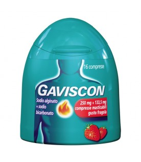 Gaviscon 16 Compresse Fragola 250+133,5mg