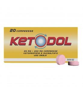 Ketodol 20 compresse 25mg+200mg RM