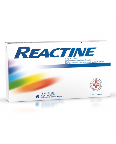 Reactine 6 compresse 5mg+120mg Rilascio Prolungato