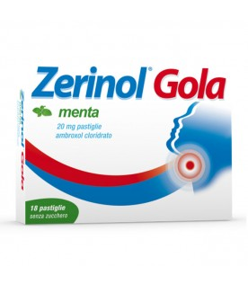 Zerinol Gola 18 pastiglie 20mg gusto menta