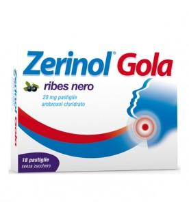 ZERINOL Gola 18 Pastiglie senza zucchero gusto Ribes