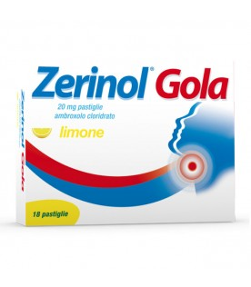 Zerinol Gola 18 Pastiglie 20mg Gusto Limone