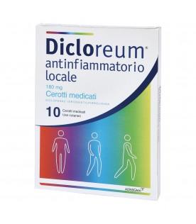 Dicloreum Antinfiammatorio Locale 10 Cerotti Medicati 180 mg