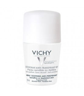 Vichy Deo Roll-On Deodorante Anti-Traspirante Pelle Sensibile 50 ml