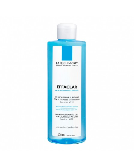 Effaclar Gel Moussant Gel Detergente Viso Purificante 400 ml