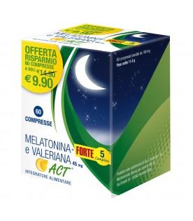 MELATONINA Act+ Forte 5 + Valeriana 60 Compresse