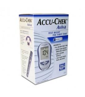 Accu-chek Aviva Glucometro Kit Misurazione Glicemia + 10 Strisce