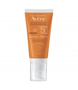 Eau Thermale Avene Crema Viso Colorata SPF 50+ Protezione Solare Molto Alta 50 ml