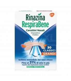 Rinazina Respirabene Cerotto Nasale Classico Adulti Formato Grande 30 cerotti