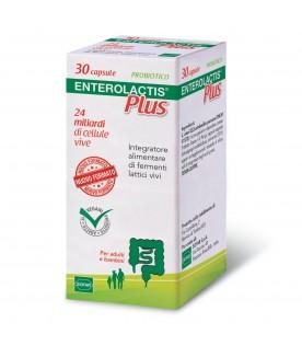 ENTEROLACTIS Plus - Integratore a base di fermenti lattici vivi - 30 capsule